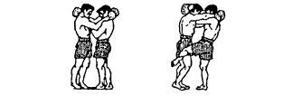 Круговой удар коленом в бедро