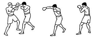 Боковой удар правой рукой