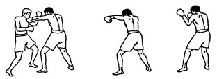 Боковой удар левой рукой