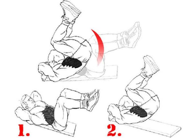 Обратные скручивания сидя