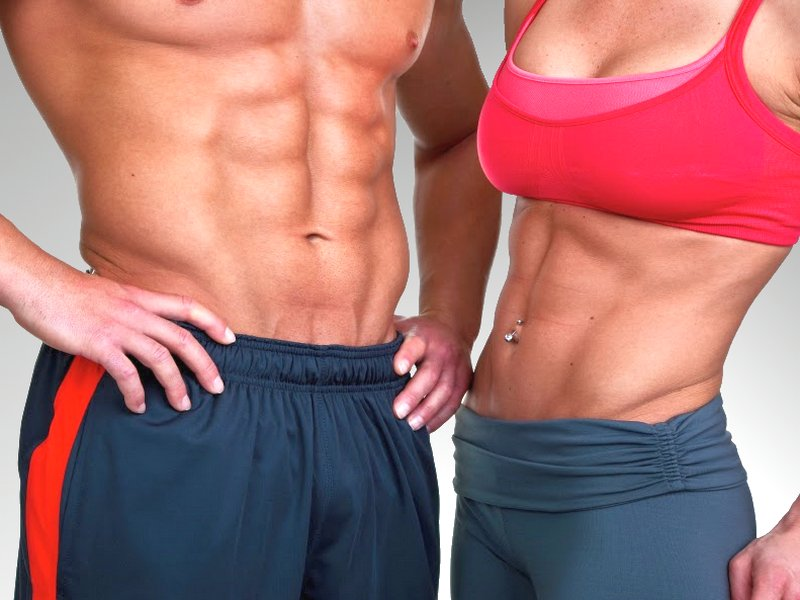 How to make the stomach muscles visible fast?