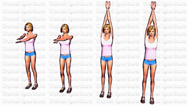Упражнения чтобы похудели рук